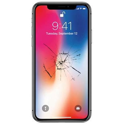 Треснутое стекло на Apple iPhone X