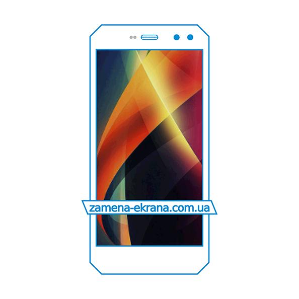 дисплей и стекло корпуса  для замены Sigma Mobile X-treme PQ52
