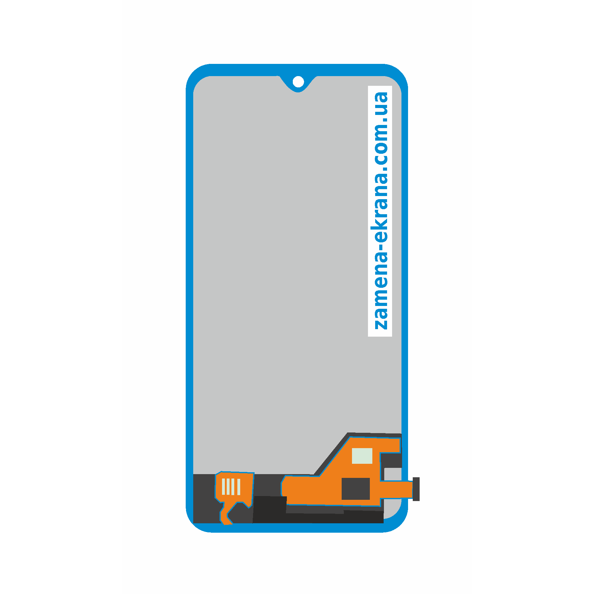 дисплей для замены Samsung Galaxy A40