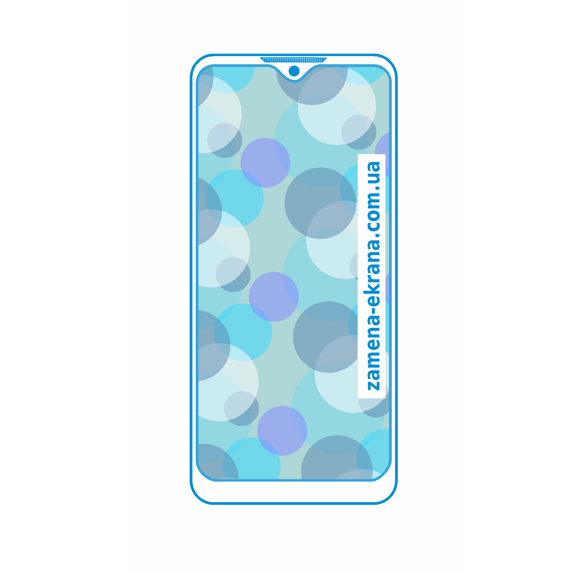 стекло для наклейки Samsung Galaxy A10