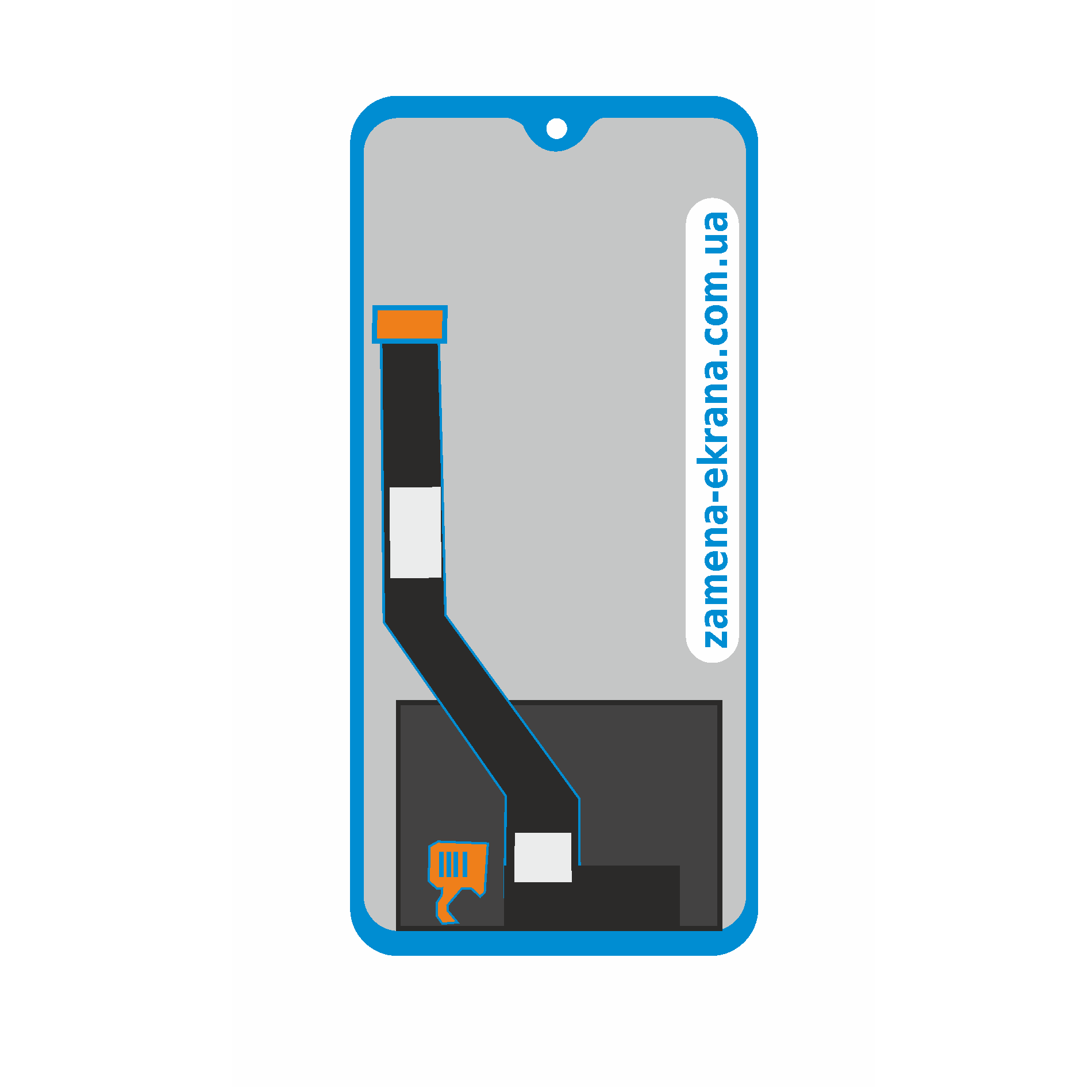 дисплей для Huawei P 40 lite e