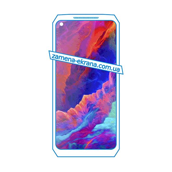 дисплей и стекло корпуса  для замены Oukitel WP7