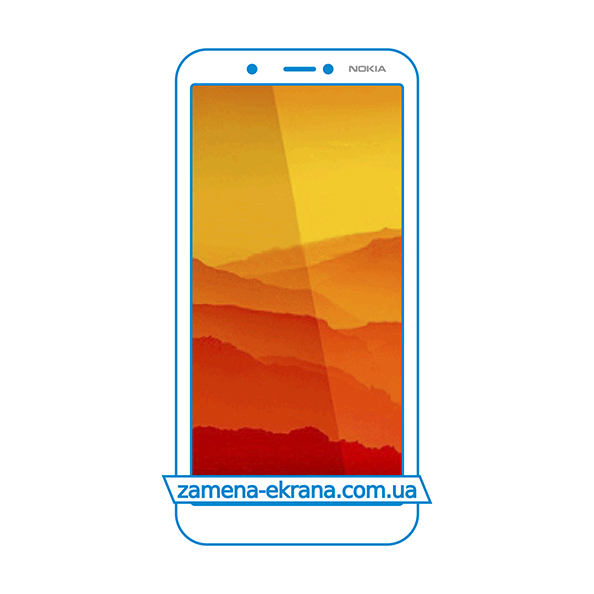 стекло для наклейки Nokia C1