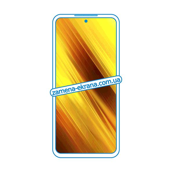 дисплей и стекло корпуса  для замены Xiaomi Poco X3 NFC